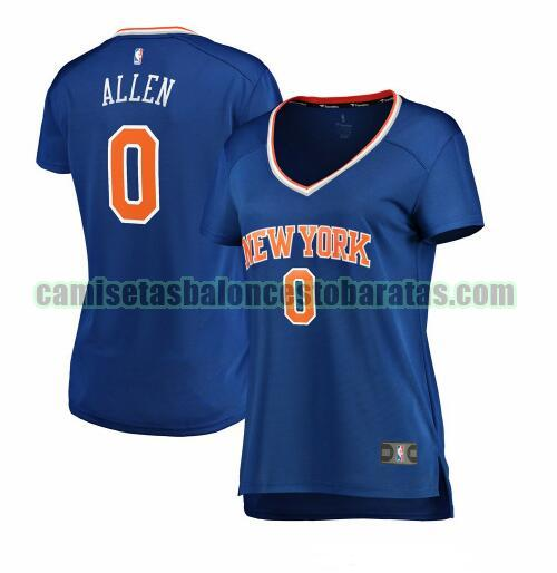 Camiseta Kadeem Allen 0 New York Knicks icon edition Azul Mujer