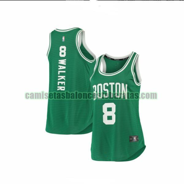 Camiseta Kemba Walker 8 Boston Celtics 2019-2020 icon edition Verde Mujer