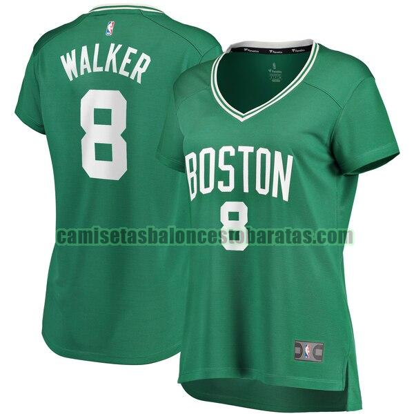 Camiseta Kemba Walker 8 Boston Celtics icon edition Verde Mujer