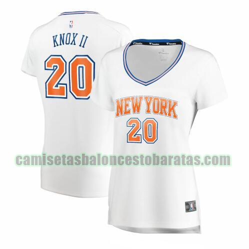 Camiseta Kevin Knox II 20 New York Knicks statement edition Blanco Mujer
