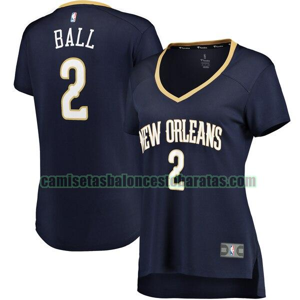 Camiseta Lonzo Ball 2 New Orleans Pelicans icon edition Armada Mujer