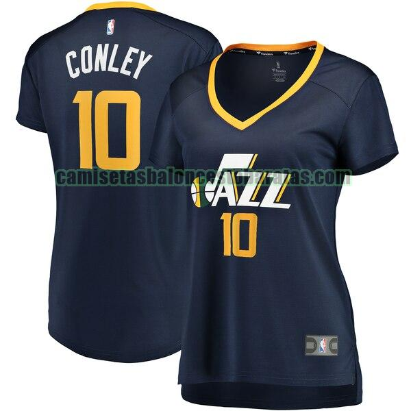 Camiseta Mike Conley 10 Utah Jazz icon edition Armada Mujer