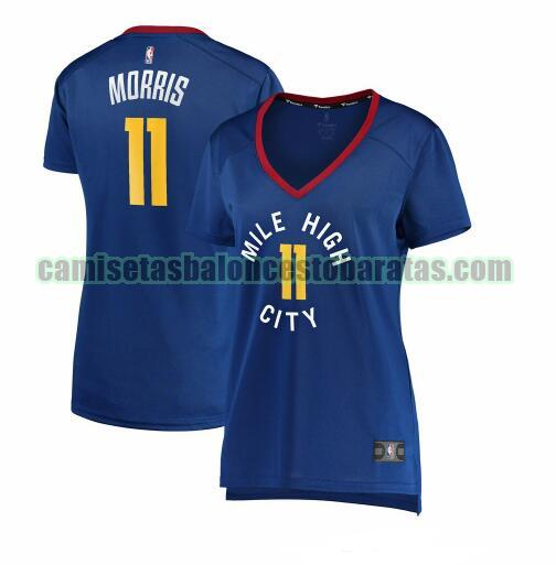 Camiseta Monte Morris 11 Denver Nuggets statement edition Azul Mujer