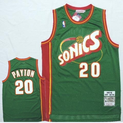 Camiseta NBA Gary Payton 20 1995-96 Seattle SuperSonics Verde