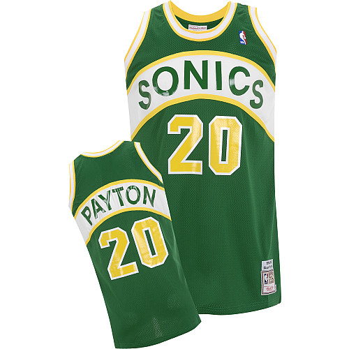 Camiseta NBA Gary Payton 20 Seattle SuperSonics Verde