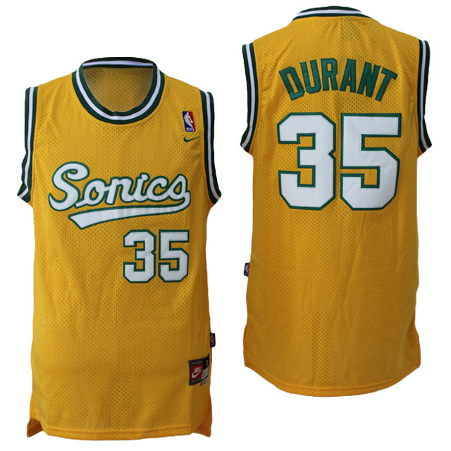Camiseta NBA Kevin Durant 35 Seattle SuperSonics Amarillo