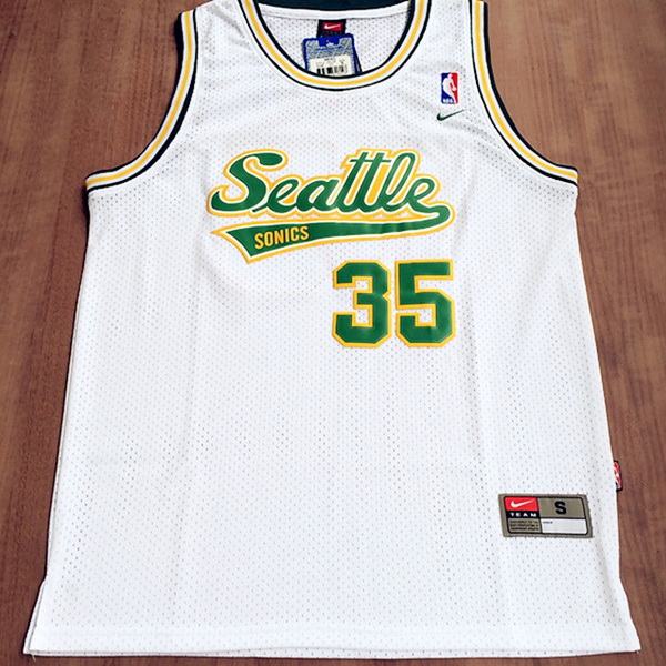 Camiseta NBA Kevin Durant 35 Seattle SuperSonics Blanca
