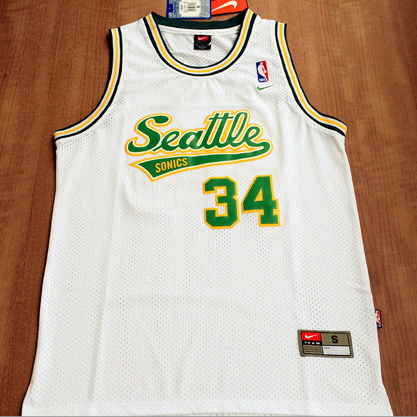 Camiseta NBA Ray Allen 34 Seattle SuperSonics Blanca