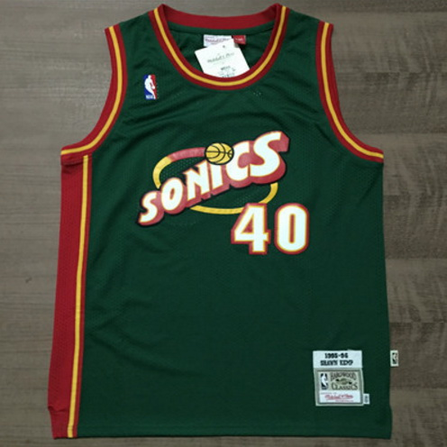 Camiseta NBA Shawn Kemp 40 1997-98 Seattle SuperSonics Verde