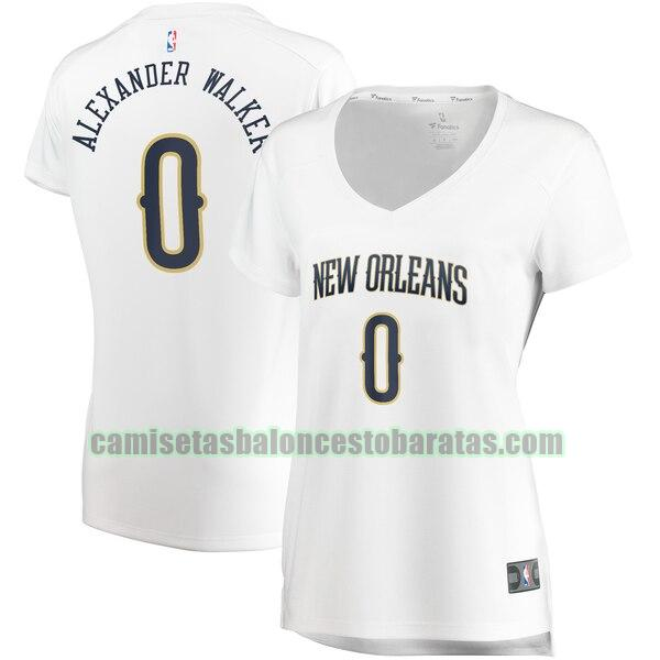 Camiseta Nickeil Alexander-Walker 0 New Orleans Pelicans association edition Blanco Mujer