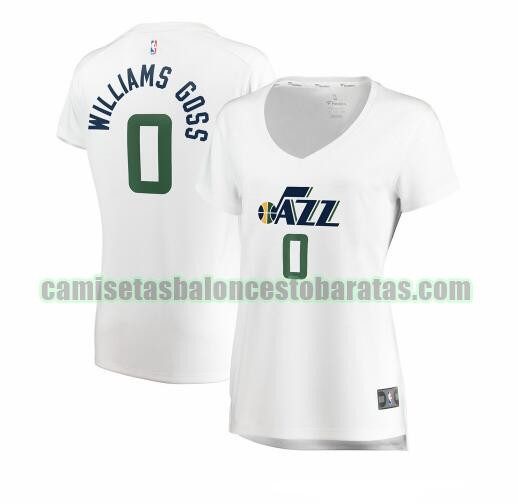 Camiseta Nigel Williams-Goss 0 Utah Jazz association edition Blanco Mujer