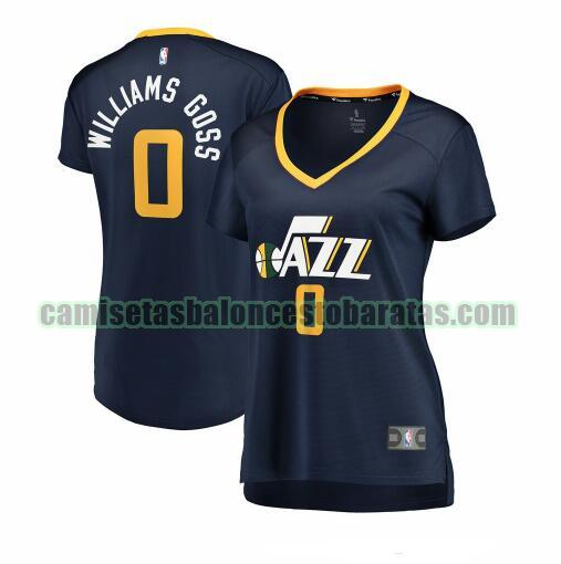 Camiseta Nigel Williams-Goss 0 Utah Jazz icon edition Armada Mujer