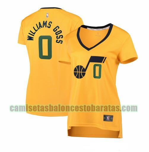 Camiseta Nigel Williams-Goss 0 Utah Jazz statement edition Amarillo Mujer