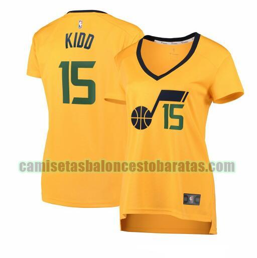 Camiseta Stanton Kidd 15 Utah Jazz statement edition Amarillo Mujer