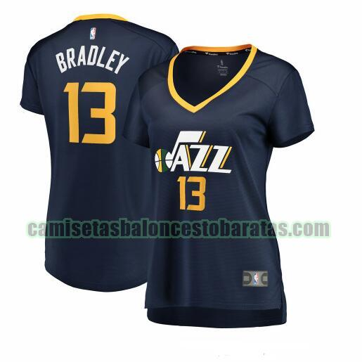 Camiseta Tony Bradley 13 Utah Jazz icon edition Armada Mujer