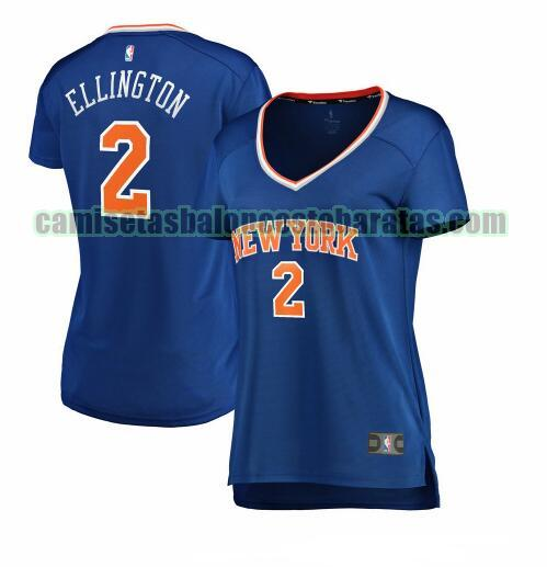 Camiseta Wayne Ellington 2 New York Knicks icon edition Azul Mujer