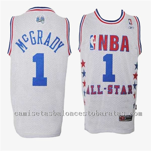 Camisetas Tracy McGrady 1 Nba All Star 2003 Blanca