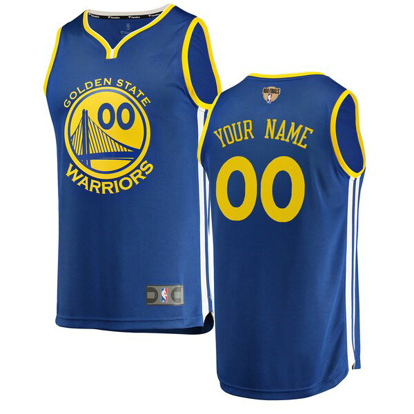 Camiseta Custom 0 Golden State Warriors 2019 Icon Edition Azul Hombre