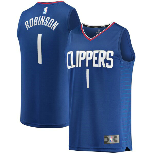 Camiseta Jerome Robinson 1 Los Angeles Clippers Icon Edition Azul Hombre