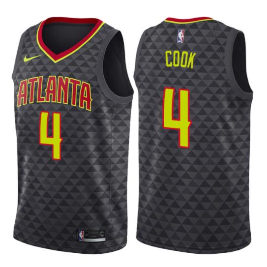 camiseta NBA quinn cook 4 2017-2018 atlanta hawks negro