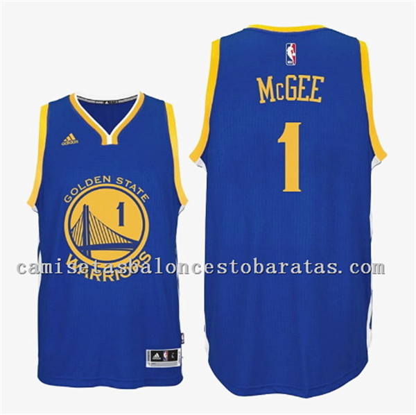 camiseta JaVale McGee 1 golden state warriors 2016 azul