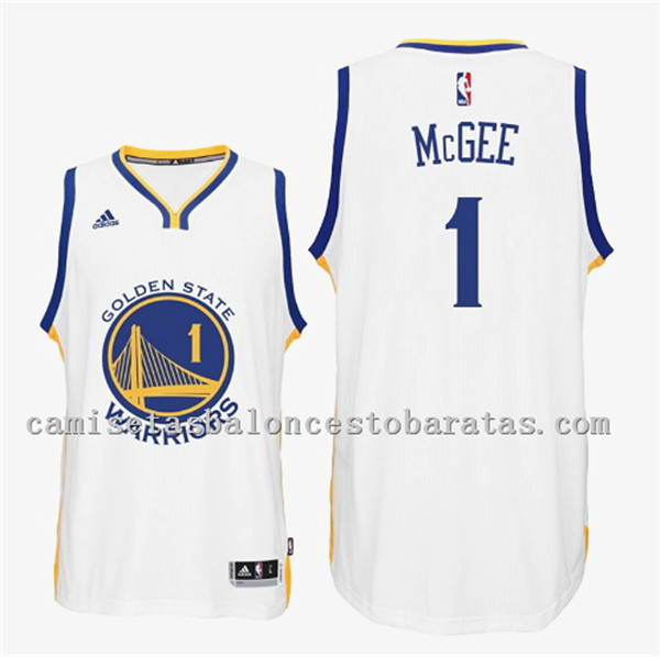 camiseta JaVale McGee 1 golden state warriors 2016 blanca