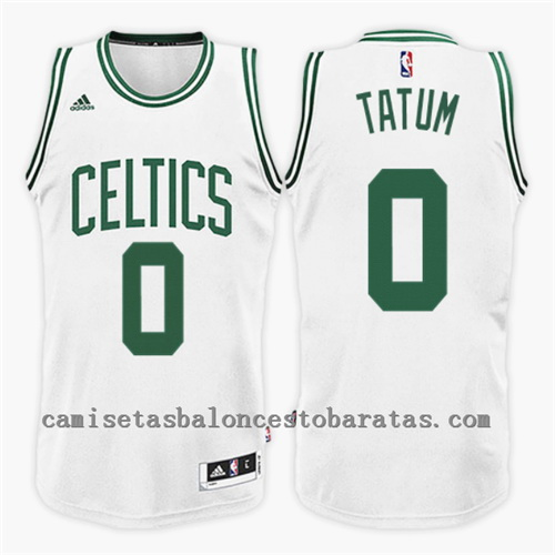 camiseta NBA jayson tatum 0 2017 boston celtics blanco