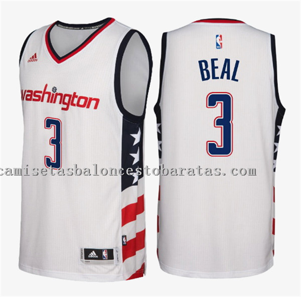 camiseta bradley beal 3 washington wizards 2016-17 blanca