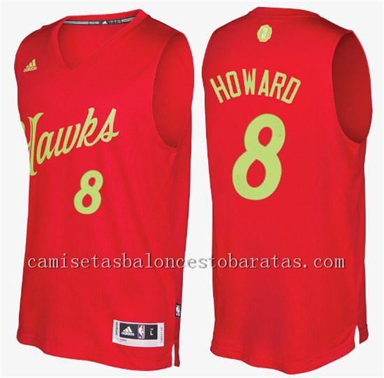 camiseta del atlanta hawks navidad 2016 dwight howard 8 roja