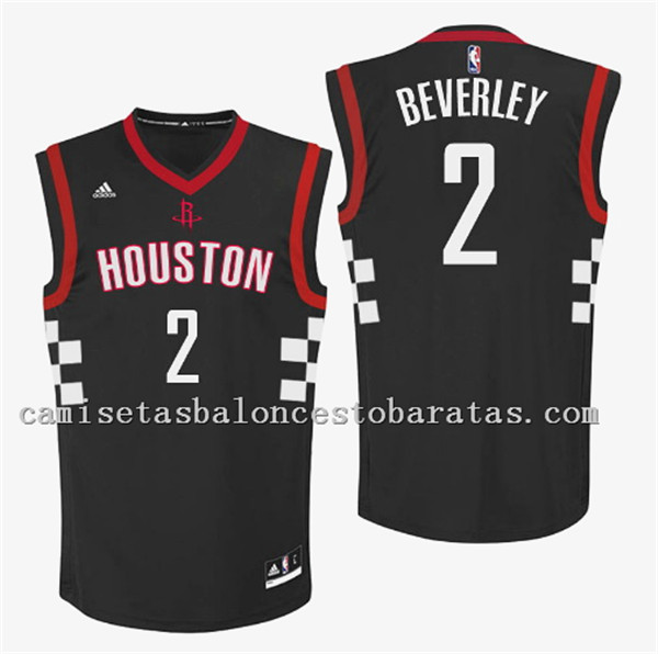 camiseta patrick beverley 2 houston rockets 2016-2017 negro