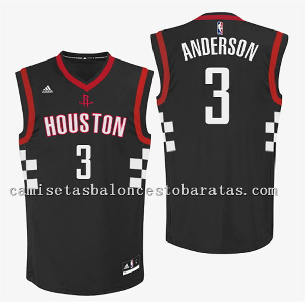 camiseta ryan anderson 3 houston rockets 2016-2017 negro
