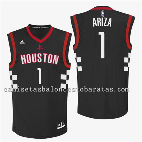camiseta trevor ariza 1 houston rockets 2016-2017 negro