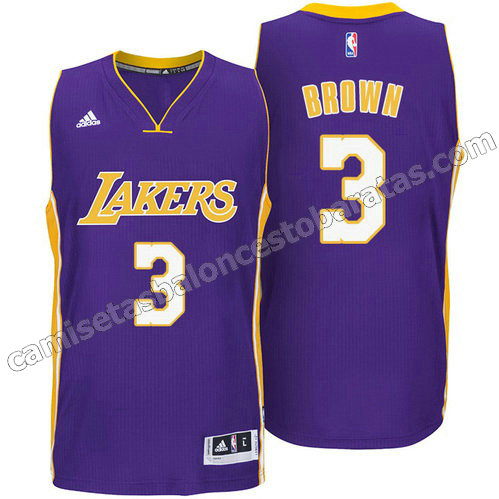 equipacion anthony brown #3 los angeles lakers 2014-2015 purpura