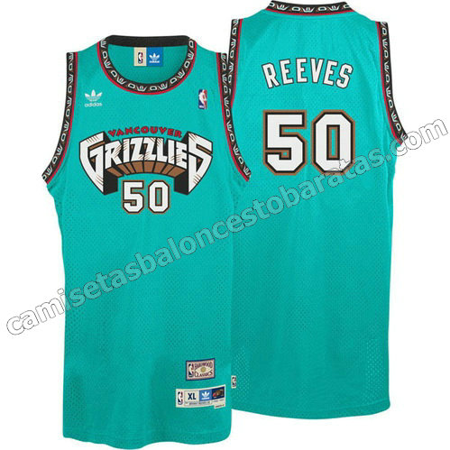equipacion bryant reeves #50 vancouver grizzlies azul
