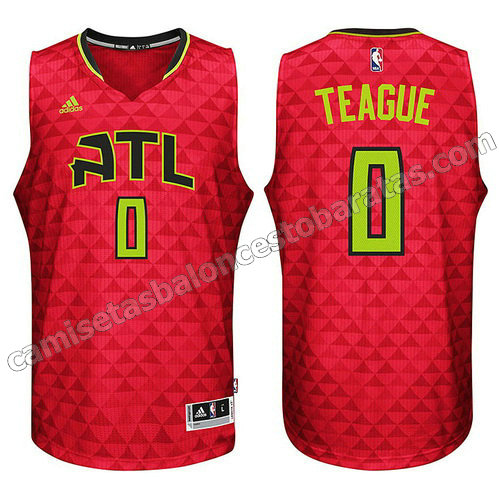 equipacion nba jeff teague #0 atlanta hawks 2015-2016 roja