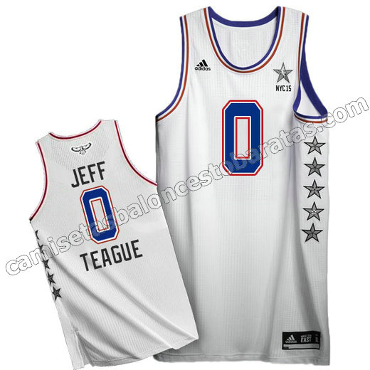 camisetas baloncesto jeff teague #0 nba all star 2015 blanca