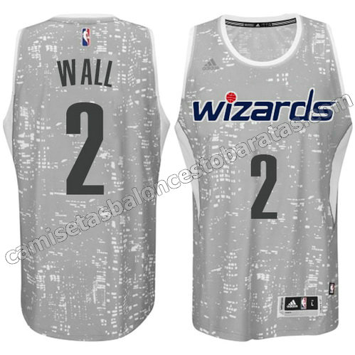 equipacion washington wizards con john wall #2 luces gris