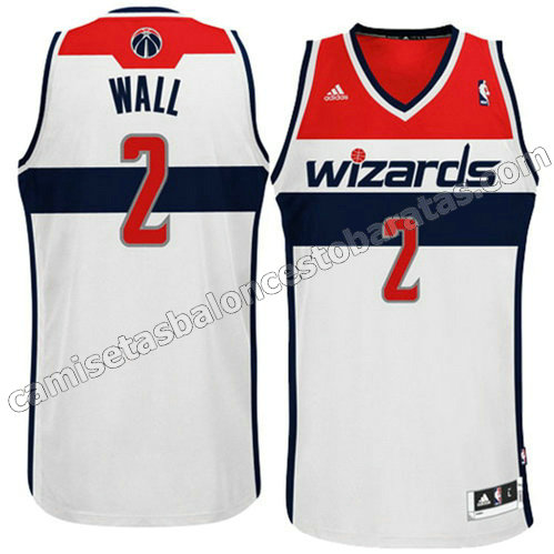 equipacion john wall #2 washington wizards revolucion 30 blanca