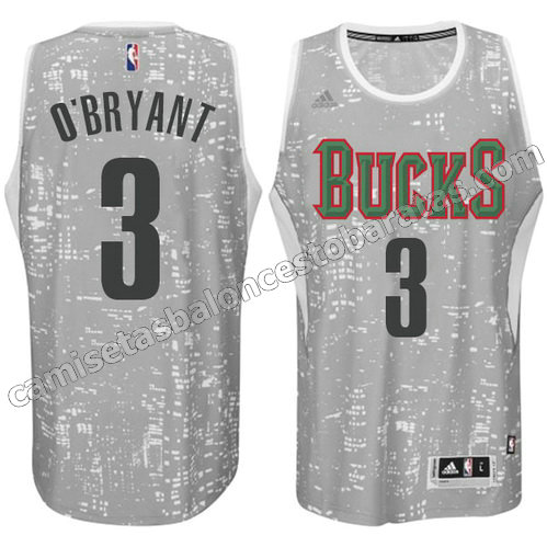 equipacion johny o'bryant #3 milwaukee bucks luces gris