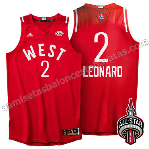 equipacion baloncesto kawhi leonard #2 nba all star 2016 roja