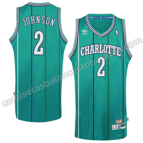 nueva camisetas de nba larry johnson #2 charlotte hornets retro barata