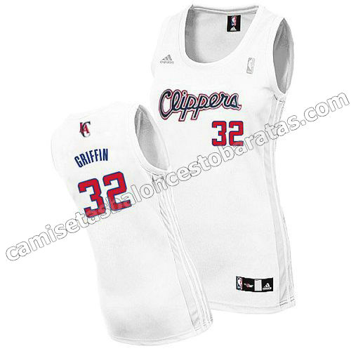 equipacion mujer blake griffin #32 los angeles clippers blanca