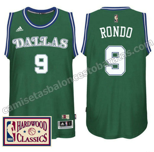 camiseta rajon rondo 9 dallas mavericks 2016-2017 verde