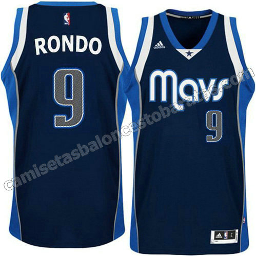 camiseta rajon rondo #9 dallas mavericks alterno azul