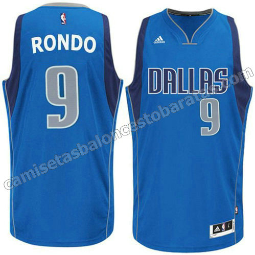 camisetas baloncesto rajon rondo #9 dallas mavericks azul
