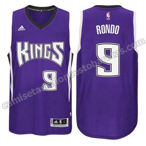 camiseta rajon rondo #9 sacramento kings 2014-2015 purpura