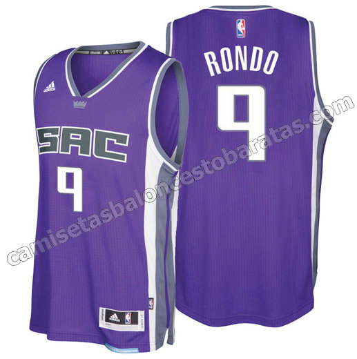 camiseta rajon rondo 9 sacramento kings 2016-2017 purpura
