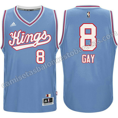 camiseta sacramento kings 1985-1986 con rudy gay #8 retro