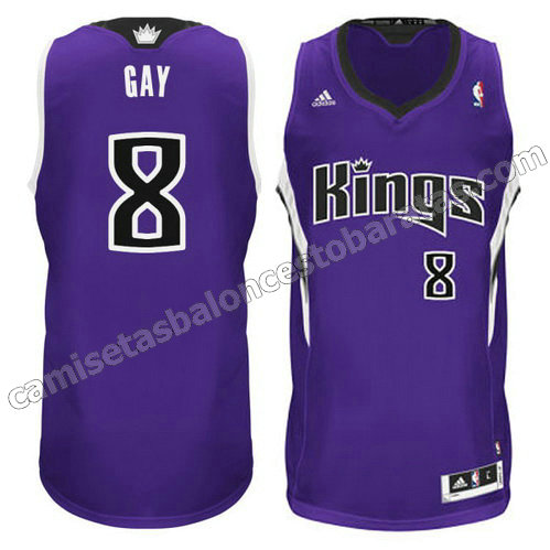 camiseta rudy gay #8 sacramento kings revolucion 30 purpura