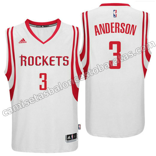 camiseta ryan anderson 3 houston rockets 2016 blanca
